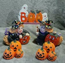 Halloween Decorations Knick Knacks Figurines Haunted Houses Lot of Three