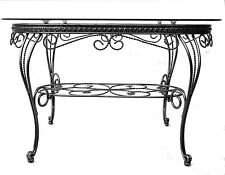 Coffee Table Oval Shape Hand Crafted with Iron Frame and Clear Glass Top D19