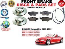 para BMW Z3 Roadster E36 Descapotable DISCO DE FRENO DELANTERO Set +