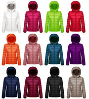 Women's Duck Down Puffer Slim Jacket Coat Hooded Hoodie Ultralight Outdoor Parka