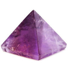 Amethyst Crystal Pyramid Egyptian Clear Stone Home Desk Decor Healing Gifts 20mm