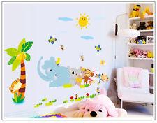 Wandtattoo wandaufkleber wandsticker Kinderzimmer sonne Tier Ranke  e015