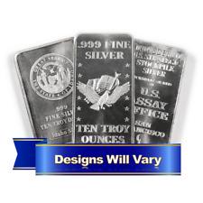 10 Troy oz Hallmarked Silver Bar .999 Fine Secondary Market