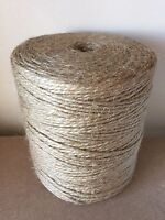 Plastic Free  2/4/6mm  Natural Brown Shabby Rustic Twine String Shank Craft Jute