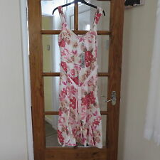 M&S Per Una Pink/Mix Linen Dress size 8 RRP £45 BNWT