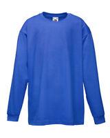 Fruit Of The Loom Children's Valueweight Long Sleeve T-Shirt - Unisex Kids Tops