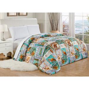 Adirondack Microfiber Comforter Moose Bear Fox Lodge Camp Full Queen King Size