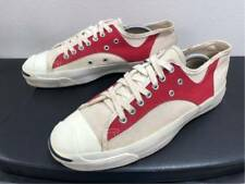ddb7b2cf3e26 Vintage 1990 s CONVERSE Jack Purcell Sneakers White   Red Color US9 ...
