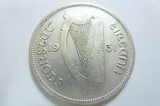 1931 Irish Half Crown - 2s 6d Eire 75% Silver rare coin with low mintage (ref 1)