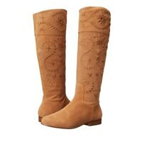 Jack Rogers Tara Tan Suede Tall Riding Boots Women's Size 9