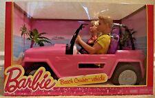 BARBIE BEACH CRUISER VEHICLE CAR GIFTSET W/ 2 DOLL 2013 Y6856 *NEW*