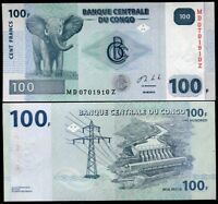 CONGO 100 FRANCS 2013 P 98 Z SUFFIX REPLACEMENT UNC