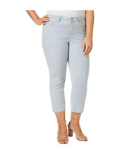 Charter Club Womens Bristol Blue Striped Ankle Jeans Plus 24w BHFO 2171