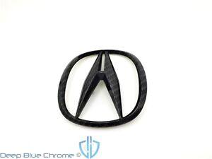Acura TL 09-14 Black Carbon Fiber Front Grille ILX RDX ZDX Emblem Genuine OEM