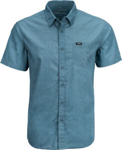 Fly Racing Button Up Short Sleeve Shirt | Indigo | Choose Size