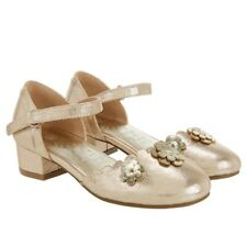 MONSOON ACCESSORIZE GIRL PARTY WEDDING SHOES GOLD  SHOES UK 10 EUR 28