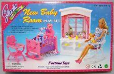 NEW GLORIA DOLL HOUSE FURNITURE BABY CRIB + Rocking Chair PLAYSET (24022)