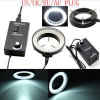 New 60-LED Adjustable Ring Light illuminator Lamp For STEREO ZOOM Microscope