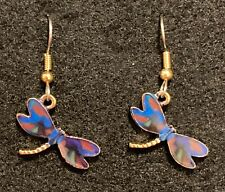 DRAGONFLY Earrings Stainless Hook New Goldtoned (C)