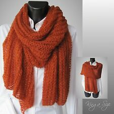 Winter Schal / Winterschal Strickschal Loopschal - Knit Scarf - Ajour - orange