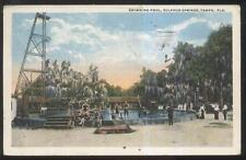 Postcard TAMPA Florida/FL  Sulphur Springs Swimming Pool 3 Tier High Dive 1910's