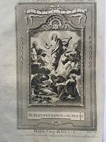 1770 Jesus Christ Transfiguration on The Mount Biblical Copperplate Print