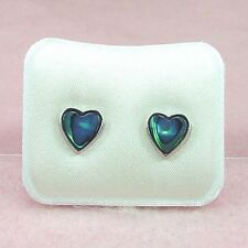 Paua Jewelry - Pd Plated Heart stud Earrings (PE114)