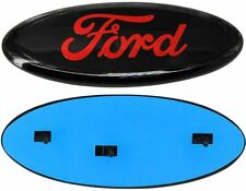 """2004-2016 Ford F-150 F-250 FRONT GRILLE or REAR TAILGATE 9"""" Black/RED Emblem"""