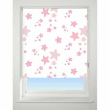 Twinkle/Star Pink Blackout Roller Blind 120cm Wide X 170cm Drop Child Safe