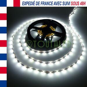 LED STRIP RUBAN BANDE 5M 12V 300 LED 2835 BLANC FROID 60 LED/M NON ETANCHE 3528