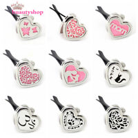 Stainless steel Car Mini Vent Clip Air Freshener Essential Oil Diffuser locket
