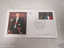 timbre enveloppe premier jour hommage au général de gaulle 1970-1985 1980 *