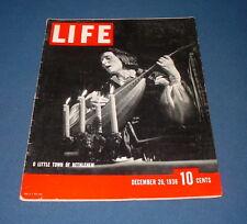 LIFE MAGAZINE DEC 26 1938 O LITTLE TOWN OF BETHLEHEM DAWN PARTOL ERROL FLYNN