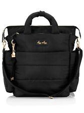 Itzy Ritzy Dream Convertible Black Diaper Bag Backpack Shoulder Puffer NEW