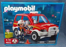 PLAYMOBIL FIREFIGHTER 2008 FIRE CHIEF CAR SET #4822