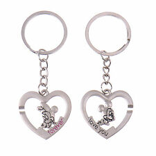 1Pair Keyring Mickey Minnie Mouse Heart Love Lover Keychain Gift Couple Key Ring