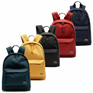 Lacoste Mens Neocroc Small Canvas Adjustable Backpack Rucksack 31% OFF RRP