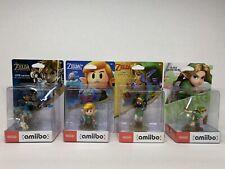 Legend of Zelda Amiibo Lot 4 Different Link Figures. New Sealed Nintendo