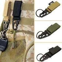 Multifunction Molle Military Nylon Key Hook Hanging Belt Carabiner Hook NEW -S
