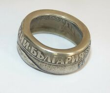 Vintage Silver Coin 1300 years Bulgaria България Hand Made Wide Band Ring Size 7