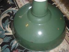 VINTAGE GREEN  PORCELAIN GAS STATION / BARN / INDUSTRIAL NO.2