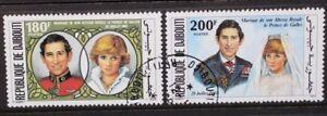 DJIBOUTI 1981 Royal Wedding. Set of 2. USED/CTO. SG816/817.