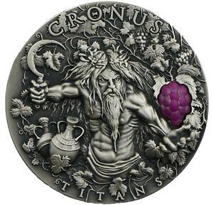 2 Ounce Silver Antique Titans - Cronus 2$ Niue 2018 Silber Oz