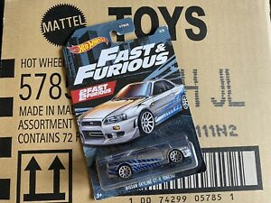 HOT WHEELS NISSAN SKYLINE GT-R BNR34 Fast & Furious 3/5 1:64 Rare