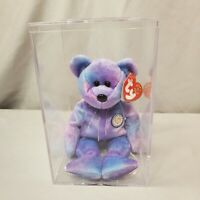Ty Beanie Baby Clubby IV w/Case & Tag protector Retired Mint Condition purple bl
