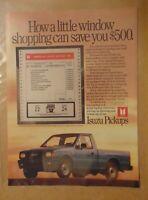 Vintage 1980's ISUZU PICKUP TRUCK Original 1989 Print Ad Advertisement