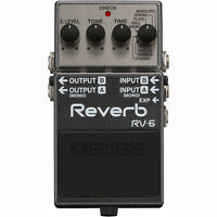 BOSS RV-6 Digital Reverb 8 Mode Mono or Stereo Operation Guitar Effects Pedal