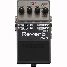 BOSS RV-6 Digital Reverb Guitar Effects Pedal +Picks