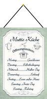 Muttis Küche Blechschild Schild mit Kordel Metal Tin Sign 20 x 30 cm CC0645-K