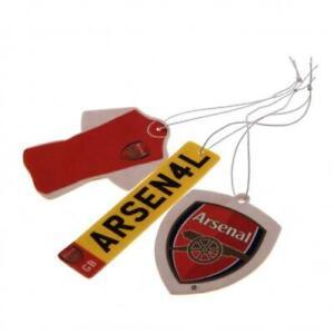 Arsenal Football Club FC 3Pk Triple Car Air Freshener Freshner AFC EPL Gunners